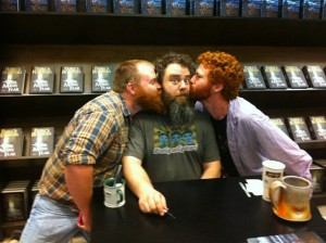 Beardy redheaded kiss