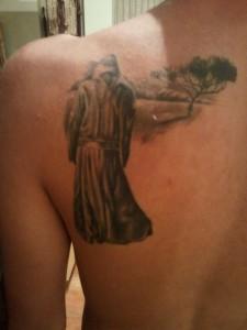 book cover tattoo