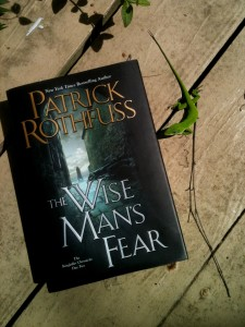 Green Anole Raves About Wise Man's Fear