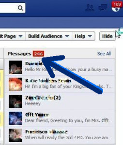 messages tab FB