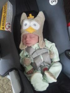 Cutie in car-seat 6 weeks