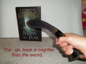 book is mightier than the sword
