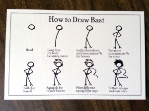 How to Draw Bast