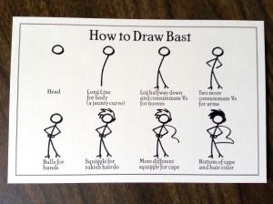 How to Draw Bast