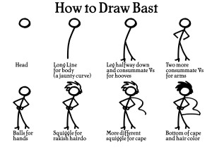 How to Draw Bast orig