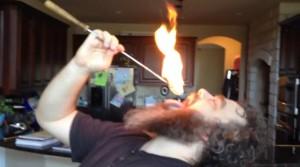 Pat eating fire screenshot