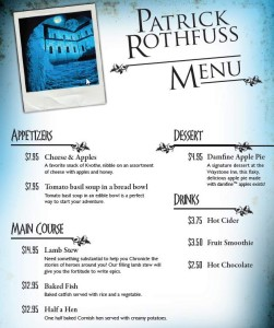 Damfine menu