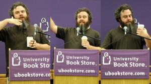 09032012_Kathy Ann Bugajsky_Patrick Rothfuss Signing_3 Coffees